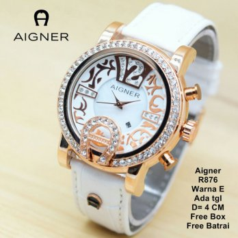 Jam Tangan Wanita / jam tangan Murah Aigner Catry White Color + Box