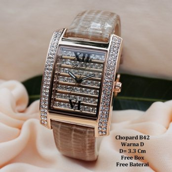 Jam Tangan Wanita / jam tangan Murah Chopard Gardela Light Brown Color