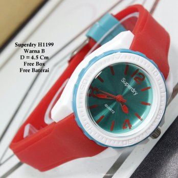 Jam Tangan Wanita / Jam Tangan Murah Superdry Candy Red Color + Box