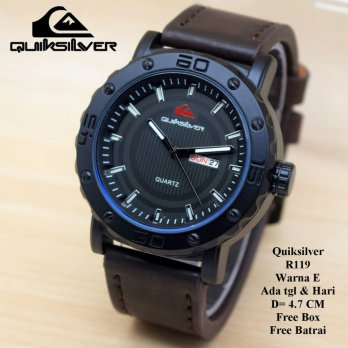 Jam tangan Pria / Cowok Murah Quiksilver Vector Dark Brown in White