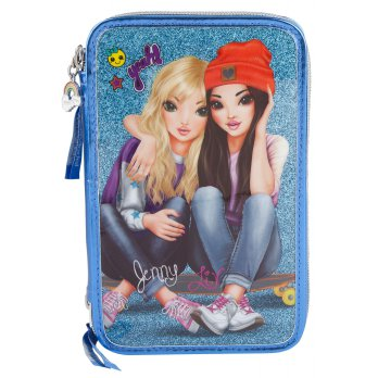 TOPModel TM 6613 TOPModel Filled Pencil Case Triple Friends Blue