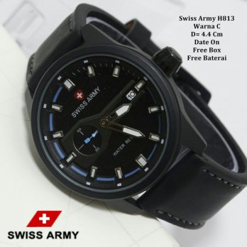 Jam Tangan Pria / jam Tangan Murah Swiss Army Rovers Black In Blue