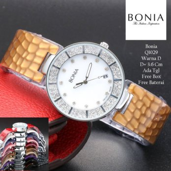 Jam Tangan Wanita / Jam Tangan Murah Bonia Saila Brown Color + Box