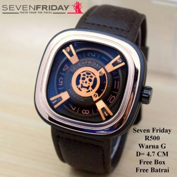 Jam Tangan Pria / Cowok Murah Sevenfriday Devil Dark Brown In Rosegold