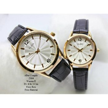 Jam Tangan Pasangan / Couple Murah Alba Aliva Fashion Four Color + Box