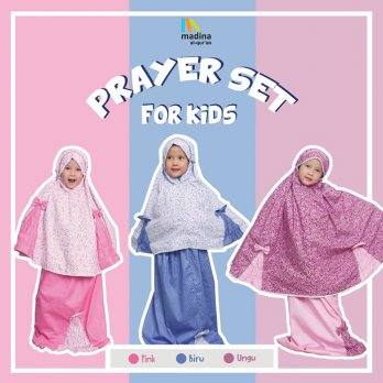 Mini Prayer Set For Kids by Madina Mukena Anak Katun Jepang Shabby