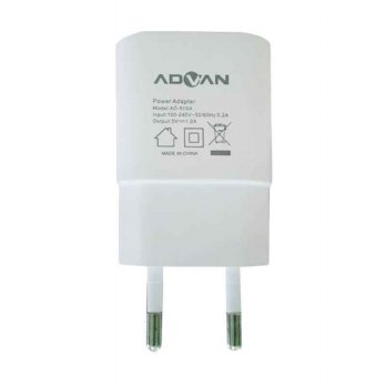 Advan Power Cube Travel Charger with Micro USB Cable - Putih