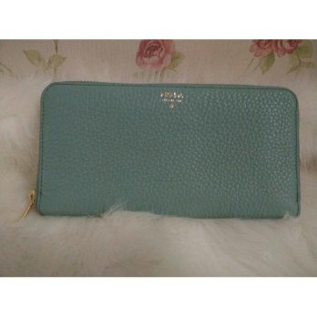 Dompet FOSSIL Sydney Zip Sea Glass Biru [ ORIGINAL FOSSIL WALLET ]