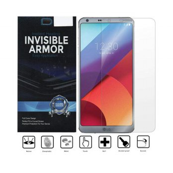 Invisible Armor Full TPU Screen Guard for LG G6 - Transparan