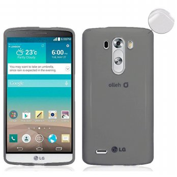 Ume TPU Soft Case Casing Cover for LG G3 - Abu-abu