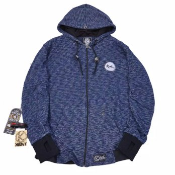 Kent Jaket Sweater Pria Original Warna Biru Navy - KNT 171 FULL COTTON