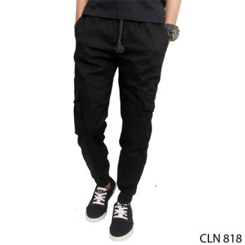 Joggers Long Length Stretch Hitam – CLN 818