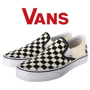 VANS classic SLIPON check (BLACK/WHITE) VN000EYEBWW