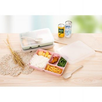 RA510B WHEAT STRAW SNACK BOX LUNCH BOX