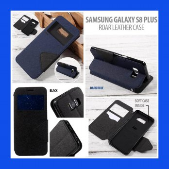 Samsung Galaxy S8 Plus Roar Window Leather Case Casing Cover