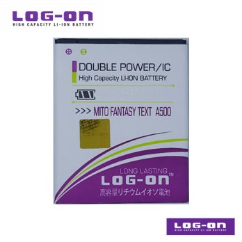 LOG-ON Battery For MITO A500- Double Power & IC - Garansi 6 Bulan