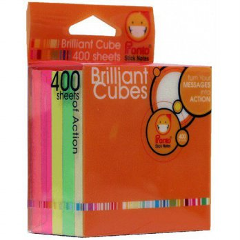 Pronto Brilliant Cube BC77/5S - 80sht/color - 75 x 75 mm