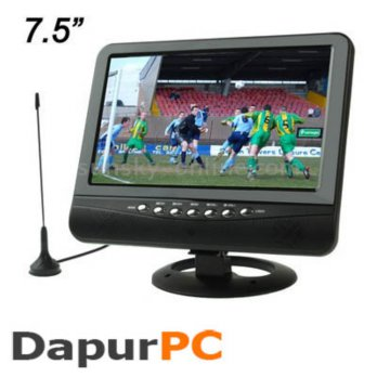 TV Portable TFT LCD Color Analog TV 7.5 inch with Wide View Angle