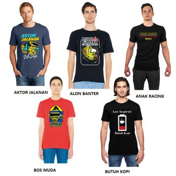 SALE KAOS PRIA T-SHIRT MURAH 01 - MULTICOLOR