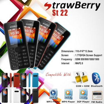 Strawberry St22 Handphone Whit Vibrate Mode ( Best Sele Diskon