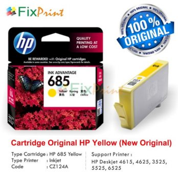 Cartridge Original HP 685 Yellow CZ124AA, Tinta HP Deskjet 4615