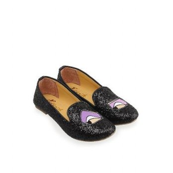 EDBERTH WOMAN SHOES GLITTER YASMINE - BLACK