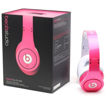 Beats by Dr. Dre Studio Pink Headphone OEM Quality Clear Bass Sound