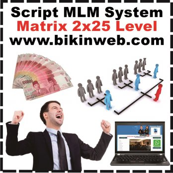 Bikin Web MLM System Matrix 2x25 Level