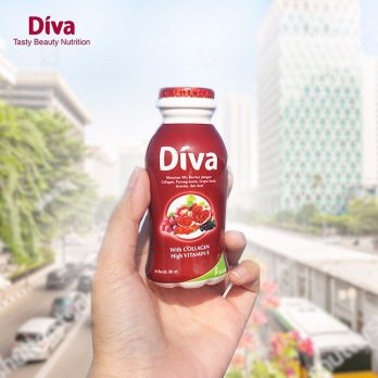 Kalbe Diva Mixed Berry 1000mg Collagen + Elastin - Isi 1 Botol Eceran