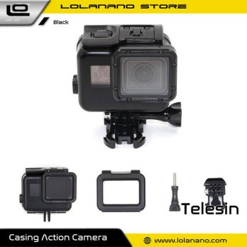 Telesin Waterproof Case Touchable Cover For GoPro Hero 5/6/7 - GP-WTP-503 - Black
