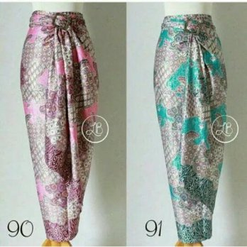 Cj collection Rok lilit batik panjang wanita jumbo long skirt Tiana