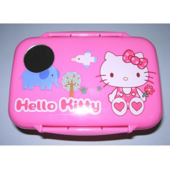 Lunch Box Kotak Makan Cermin Susun 2 + Tempat Lauk Hello Kitty SMHK 65