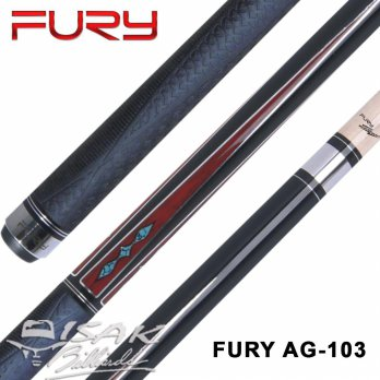 Fury AG-103 Cue - Rubber Grip - Billiard Stick Pool Stik Biliar Maple Bilyard