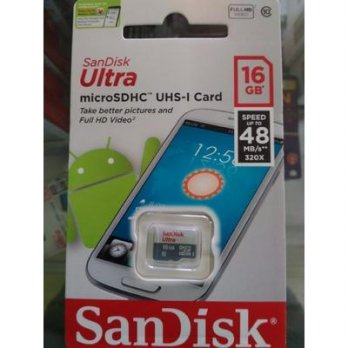 MEMORY MICRO SANDISK 16GB CLASS 10 SPEED 48MB/S NON ADAPTOR