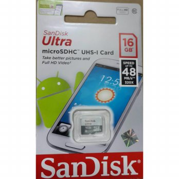 SANDISK MICROSD 16GB 48MBPS TANPA ADAPTER / MICRO SD 16GB MB/S