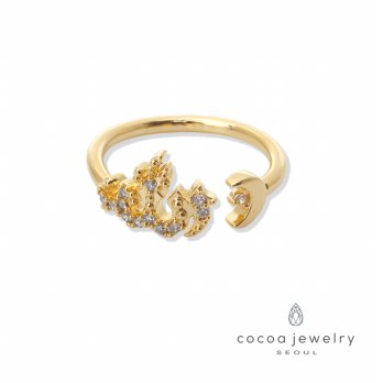 Cocoa Jewelry Cincin Wanita Korea - Crescent On The Side