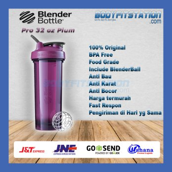 Shaker Blender Bottle Pro 32 oz Plum - air asli botol besar blenderbottle import minum ml ori origi