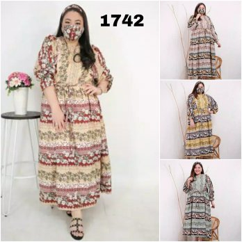 BAJU BIGSIZE MURAH - DRESS ALTAIR JUMBO (1742-DS)