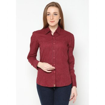 Mobile Power Basic  Long Sleeve Shirt Maroon _ K8137