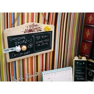 Papan Tulis Magnetic Family Message Board Gantung Mini White Black