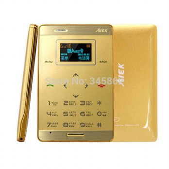[Globalbuy] AIEK M3 Card Mobile Phone 6.5mm Ultra Thin Pocket Mini Phone Dual Band FM MP3/2921929