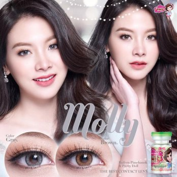 New Softlens Pretty Doll Molly / Softlense Moly / Soflens - Brown Normal -Original 100%-Terlaris