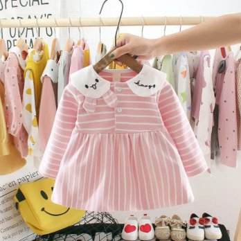 Dress bayi import pink kelinci, Dress anak super cute & cantik