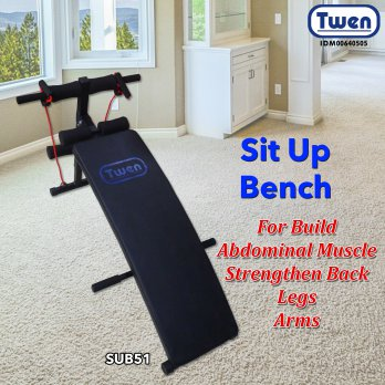 Twen Sit Up Bench SUB51 - Alat Fitness Perut/ Alat Sit Up Pelangsing Perut