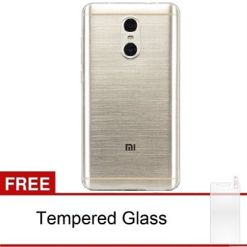 Case Ultra Thin Xiaomi Redmi Note 4 Soft Jelly (Clear)  Free Tempered Glass