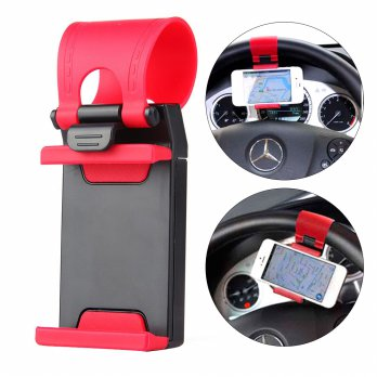 Car Steering Wheel Phone Socket Holder | Holder Stir dan Sepeda Motor / Bike
