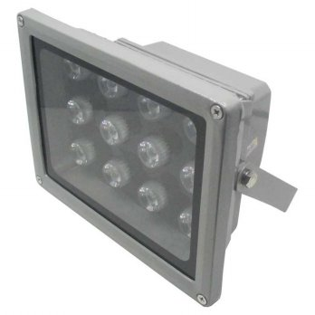 Waterproof LED Floodlight Lamp 12W 800-900 Lumens AC 85-265V - Silver