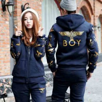[Gold Product] [Cp Jkt Boy Navy LT] Jaket Couple Babyterry navy
