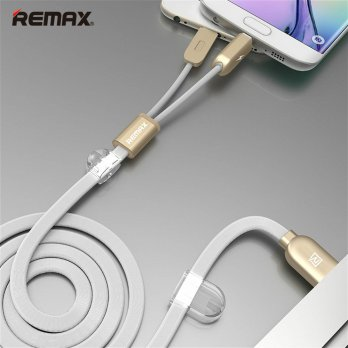 Remax Gemini High Speed 2 in 1 Micro Usb / Lightning Pin for Smartphone and iPhone 5/6 - RC-025t - White