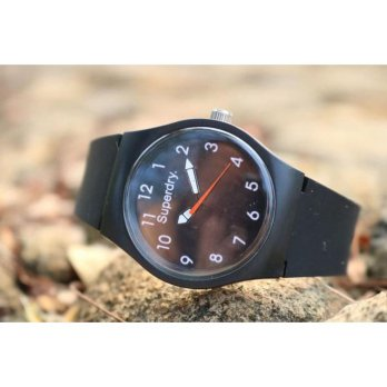 Jam Tangan Analog SUPERDRY RUBBER BLACK